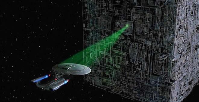 Rayo tractor de la nave Enterprise de la película Star Trek