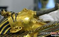 De esta manera se está restaurando la máscara funeraria de Tutankamón