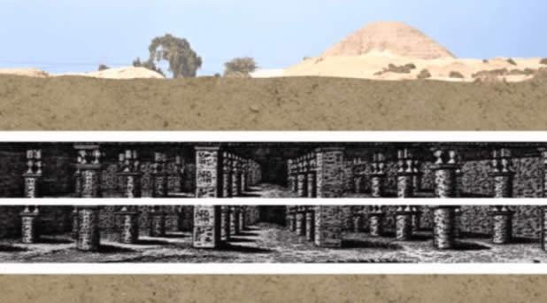 Recreación del antiguo laberinto subterráneo egipcio