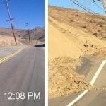 """Una carretera en California se """"dobla"""" y """"deforma"""" en solo unas horas"""