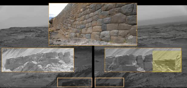 ¿Hay similitudes entre las imágenes de Marte y paredes 'artificiales' en la Tierra?