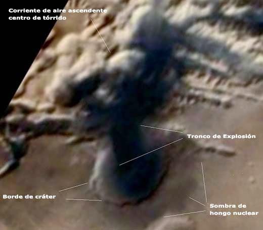 Presunta explosión nuclear en Marte