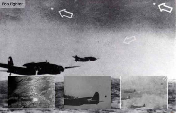 Foo fighters fotografiados durante la Segunda Guerra Mundial por pilotos de bombarderos.