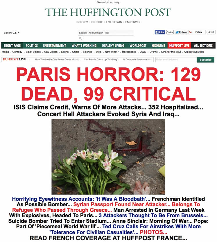 Horror en Paris: Huffington Post