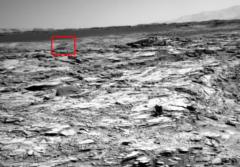 Fotografía de NASA muestra un lobo en Marte.