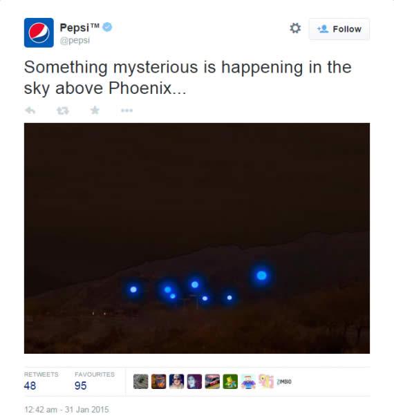 Pepsi y la luces de Phoenix