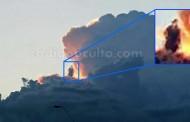 Una silueta humanoide es supuestamente fotografiada sobre una nube