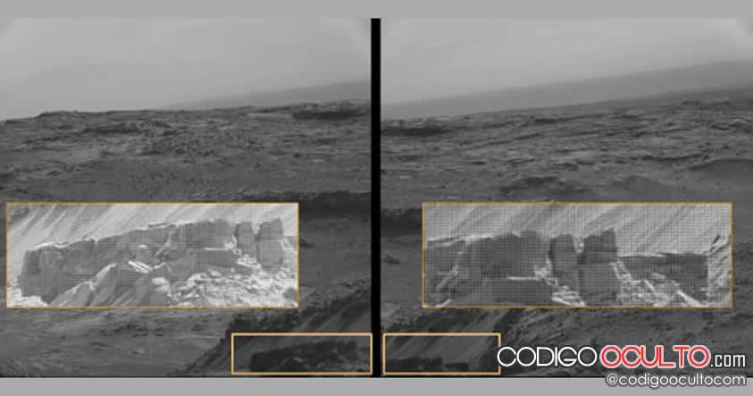 ¿Ha fotografiado NASA paredes artificiales en la superficie de Marte?
