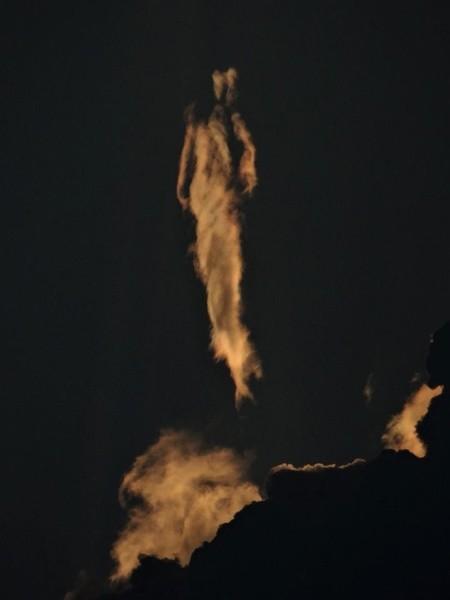 Imagen 3. Silueta humanoide en cielo de Costa Rica