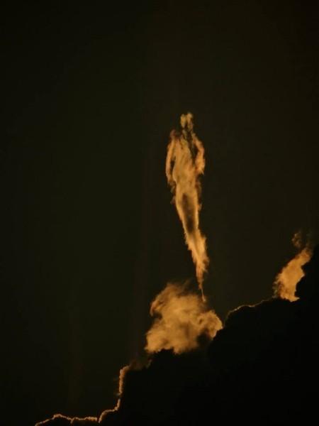 Imagen 2. Silueta humanoide en cielo de Costa Rica