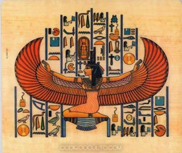 """El dios Osiris. Según la mitología egipcia, Osiris bajó del cielo en un """"barco volador"""". ¿Fue un OVNI?"""