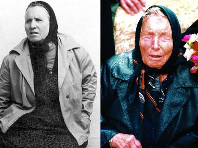 Un joven Baba Vanga en una fotografía sin fecha (izquierda) y a la derecha ya casi al final de su vida.