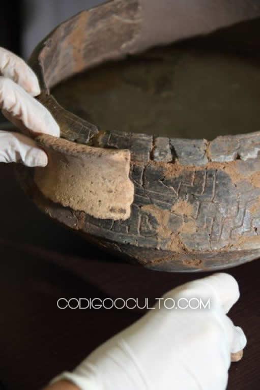 Antiguas utensilios de cerámica hallados en algunos de los sitios arqueológicos en Amazonas