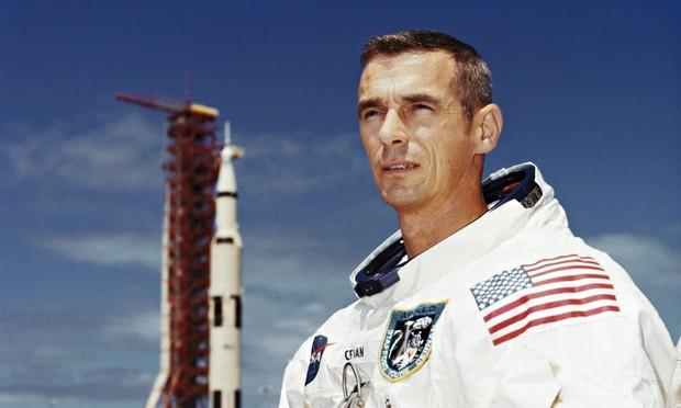 Astronauta Eugene Cernan.