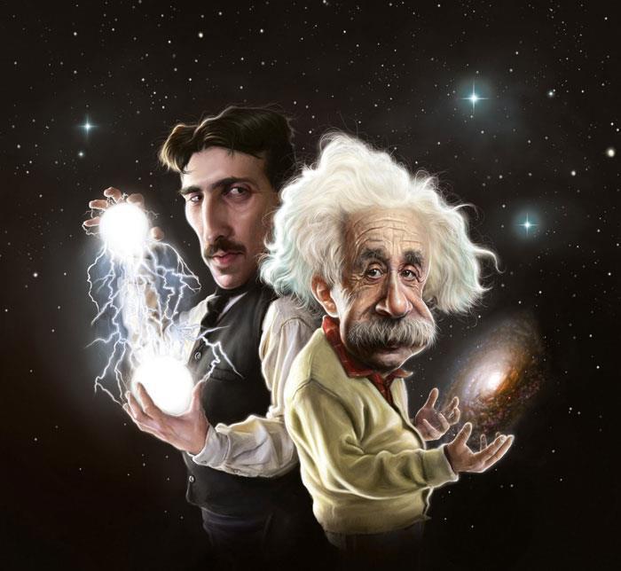 Tesla y Einstein