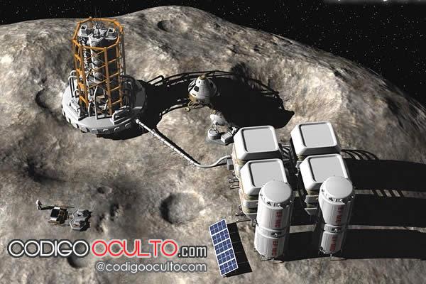 Foto referencial: Base espacial extractora de minerales
