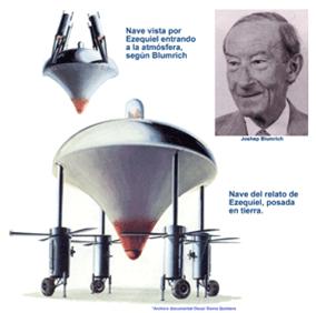 La nave espacial que pudo presenciar Ezequiel según Blumrich.