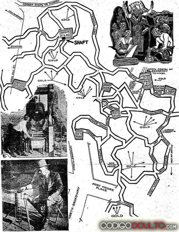 Mapas trazados de las ciudades subterráneas
