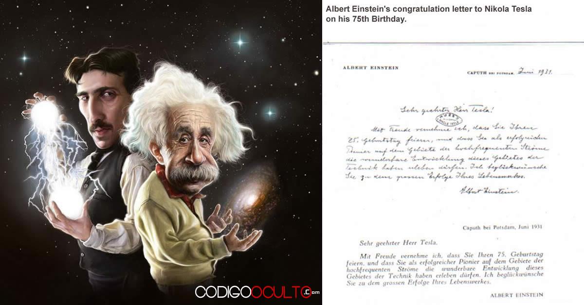 La carta que Albert Einstein le envió a Nikola Tesla
