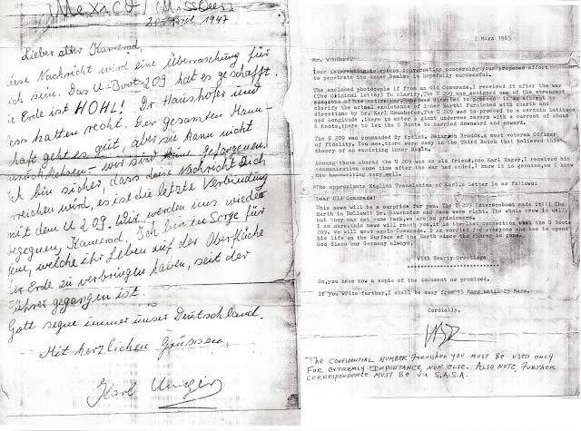 Carta secreta nazi afirma que el equipo alcanzó el interior de la Tierra.
