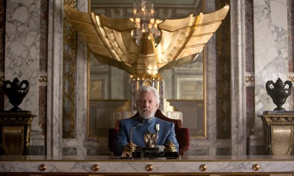 """Donald Sutherland en """"Los Juegos del Hambre"""""""