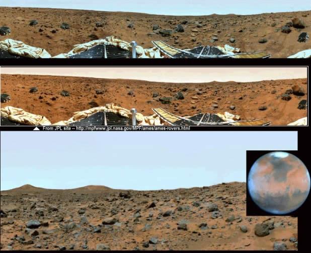 Imágenes de Marte tomadas por NASA, revelarían un cielo azul muy similar al de la Tierra.