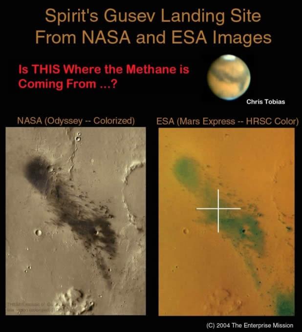 Otra de las preguntas a responder sería: ¿de donde viene todo el metano presente en el planeta Marte?