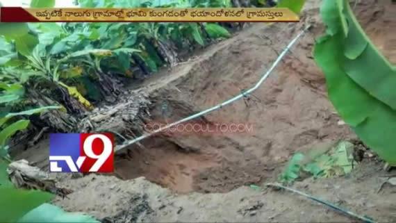 Plantaciones son tragadas por los agujeros. Los agricultores tienen temor de pisar sus terrenos.
