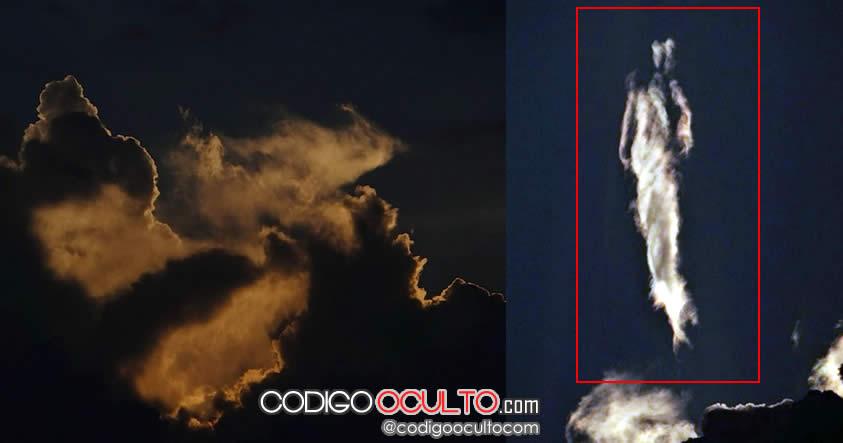 Misteriosa silueta humanoide es vista en cielo de Costa Rica… ¿es solo pareidolia?