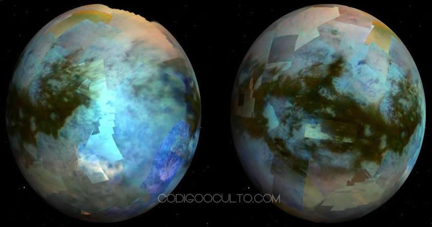 Titán: Luna de Saturno podría albergar vida extraterrestre. Imagen de Cassini muestra su superficie nebulosa