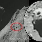 Otro impresionante OVNI es fotografiado sobre el cometa 67P