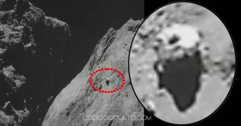 Segundo OVNI fotografiado en el cometa 67P