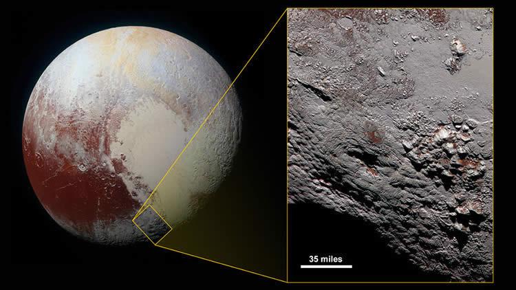 En una foto de alta definción de la NASA aparece lo que podría ser el volcán de hielo más grande del Sistema Solar exterior, que habría entrado en erupción recientemente.