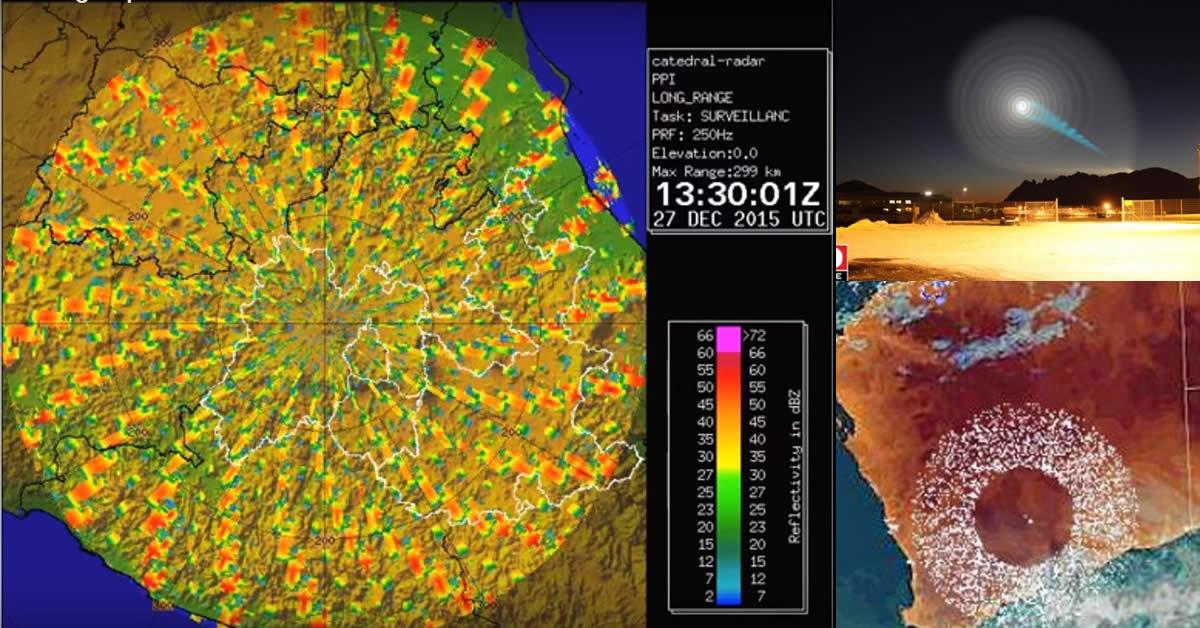 Inexplicable vórtice en espiral aparece en un radar meteorológico de México