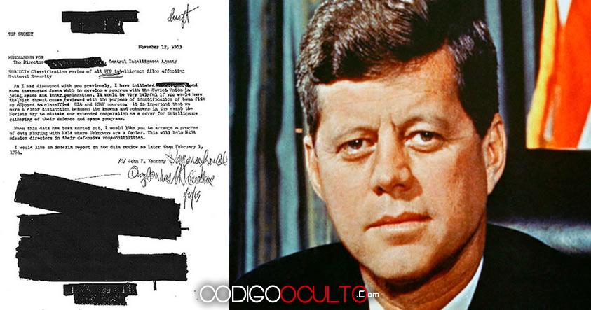 Documentos muestran que JFK fue asesinado días después de exigir respuestas de los ovnis a la CIA