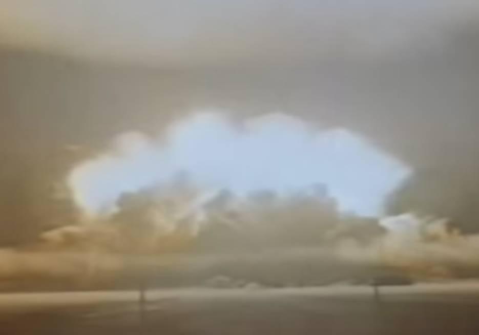 Imagen capturada del supuesto vídeo de la prueba termonuclear realizada por Corea del Norte