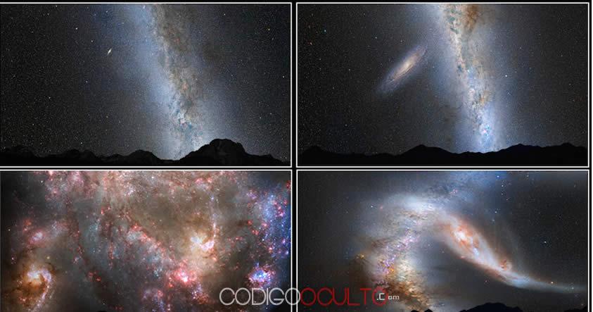 Roscosmos: Así colisionará nuestra galaxia Vía Láctea con Andrómeda