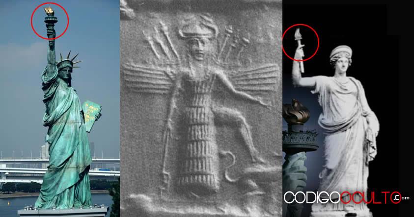 Conexiones entre la Estatua de la Libertad y la diosa Anunnaki Inanna