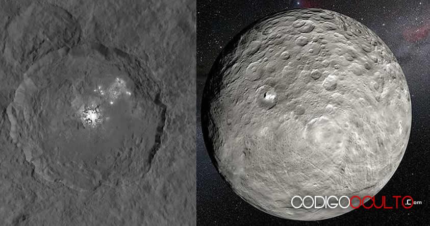 Misterio en Ceres: Manchas brillantes cambian de intensidad aleatoriamente