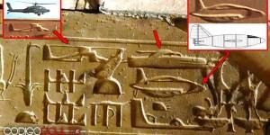 «Máquinas voladoras» representadas en templo del antiguo Egipto