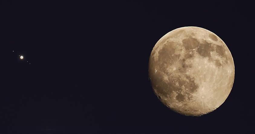 Un eclipse de Luna coincidirá con el super brillo de Júpiter el 23 de marzo