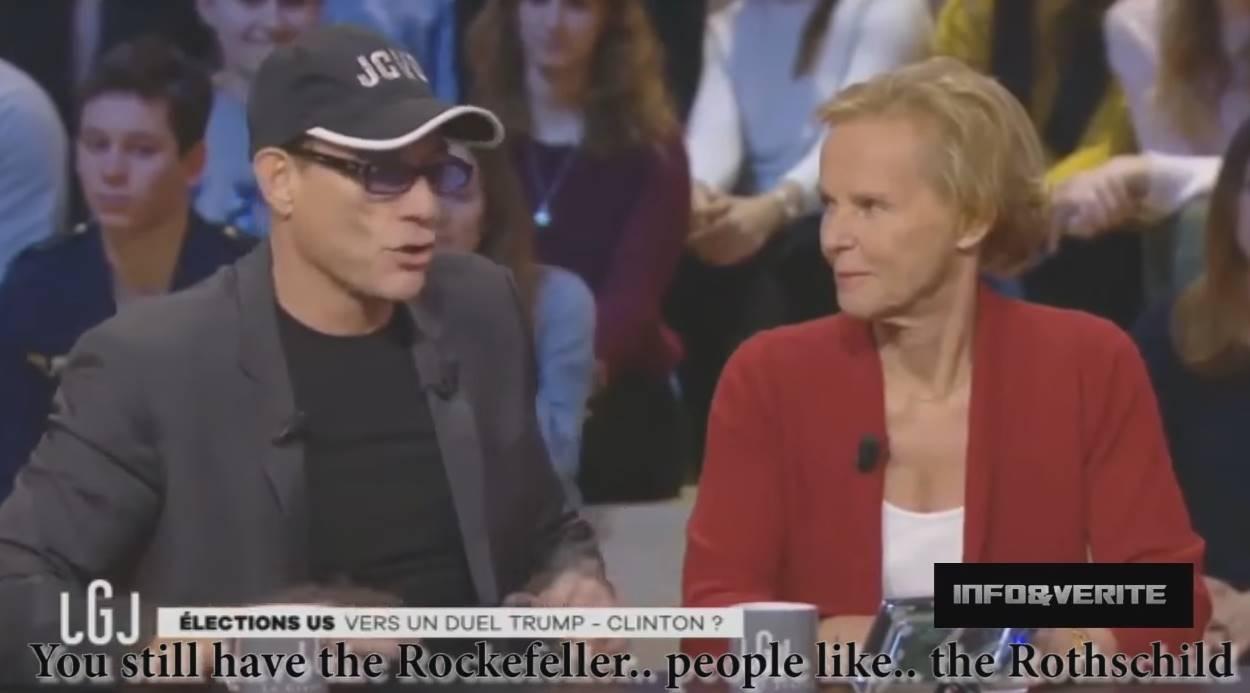 Jean-Claude Van Damme: «Los Rockefeller y Rothschild dominan los continentes»
