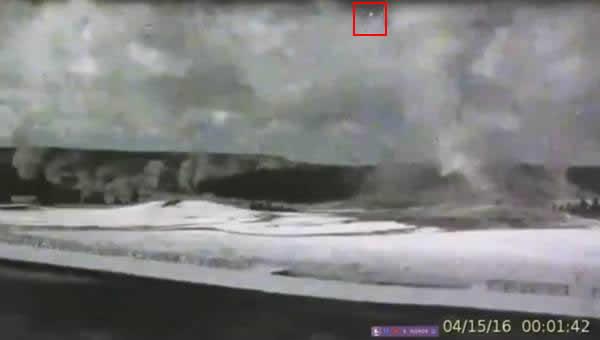 Extraño destello en el cielo mientras el volcán Yellowstone muestra su actividad