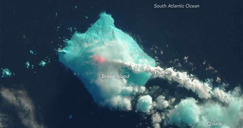 Volcán ubicado cerca a la Antártida despierta luego de 60 años de inactividad