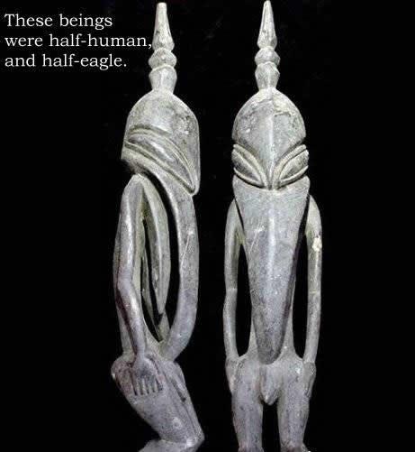 Antiguos dioses en Guinea. ¿Una representación de antiguos seres extraterrestres?