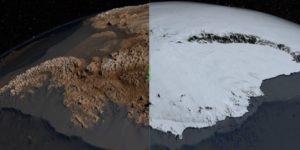Mapa de NASA muestra a la Antártida libre de hielo ¿Evidencia de antigua ocupación humana?