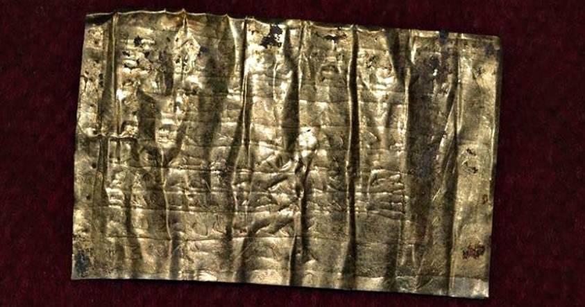 Arqueólogos descubren tablillas de oro con maldiciones de 2.000 años de antigüedad