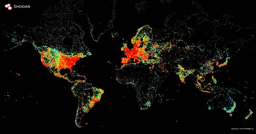 Un ping global: Elaboran un mapa de todos los dispositivos conectados a Internet en el mundo