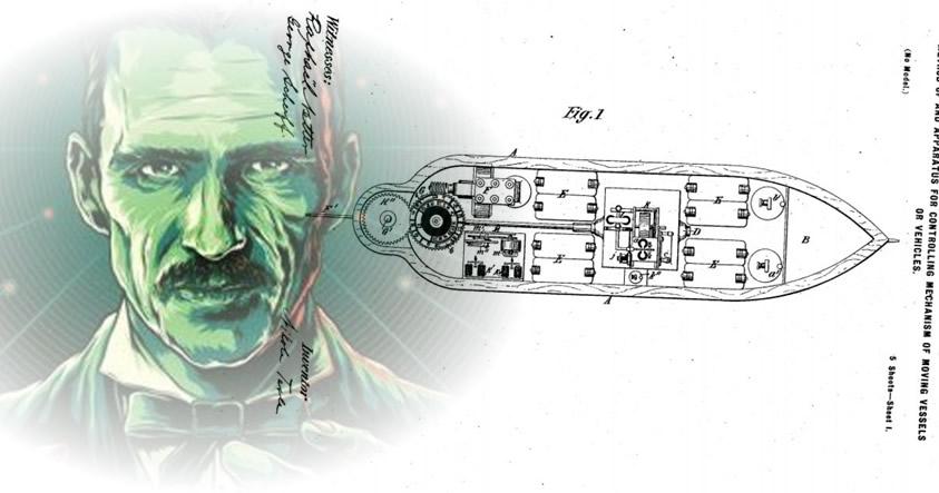 Hace más de 100 años, en el año 1898, Nikola Tesla inventó los drones