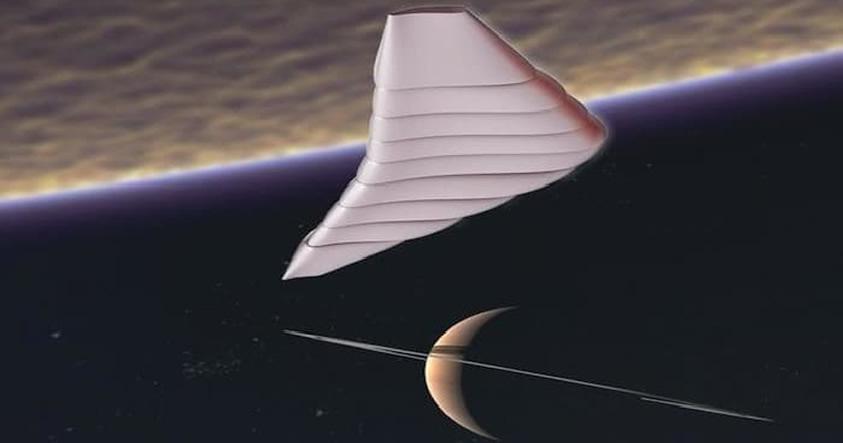 La aeronave que surcará los cielos de Titán, la luna más grande de Saturno